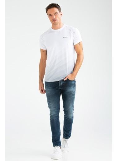 Speedlife Splash Erkek Tişört Beyaz
